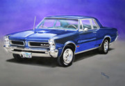 Muscle Car Mixed Media Framed Prints - Gto 1965 Framed Print by Thomas J Herring