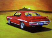 Muscle Car Mixed Media Framed Prints - Gto 1971 Framed Print by Thomas J Herring