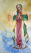 Passion Metal Prints - Guadalupana Metal Print by Karina Llergo Salto