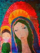 Baby Jesus Mixed Media Prints - Guadalupe Print by Sacred  Muse