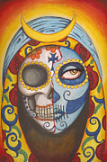 Sugar Skull Posters - Guadalupe Poster by Shayne of the  Dead