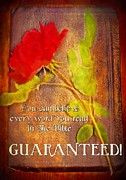 Believe Digital Art - Guaranteed by Michelle Greene Wheeler