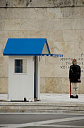 Guard At Tomb Of Unknown Soldier In Athens Print by Cliff C Morris Jr