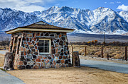 Lone Pine Framed Prints - Guard House Manzanar Internment Camp World War II Framed Print by Gary Whitton