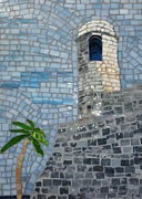 Florida Glass Art - Guard Tower by Maggie Deitsch