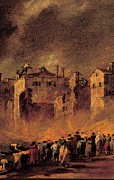 School Houses Photos - Guardi Francesco, Fire In The San by Everett
