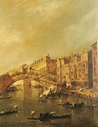 Vin Photo Prints - Guardi Francesco, The Rialto Bridge Print by Everett