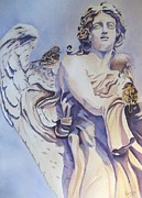 Angel Art Paintings - Guardian Angel by Patricia Pushaw