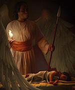 Night Angel Posters - Guardian Angel Poster by Tamer Elsharouni