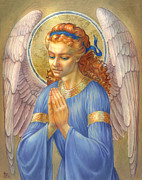 Religious Digital Art Prints - Guardian Angel Print by Zorina Baldescu