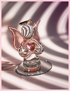 Pink Glass Art Prints - Guardian Angels Print by Tom Druin