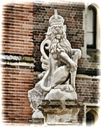 Hampton Court Prints - Guardian Lion - Hampton Court England Print by Jon Berghoff