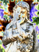 Statue Portrait Digital Art - Guardian Of The Bygone 2 by Devalyn Marshall