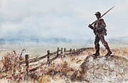 Soldier Paintings - Guardian Of The Fields by Monte Toon