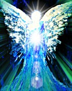 Heaven Digital Art Originals - Guardian of The Light by Alma Yamazaki