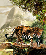 Wildlife Art Acrylic Prints Prints - Guardian of the Machu Picchu Peru Print by Gina Femrite