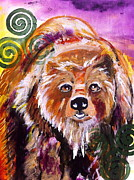 Medicine Bear Prints - Guardian of the Spirit World Print by Kim Heil