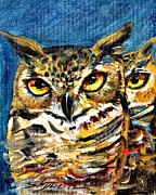 Owl Metal Prints - Guardian Owls Metal Print by Shijun Munns