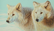 Arctic Drawings Prints - Guardians Of The Far North Print by Clare Shaughnessy