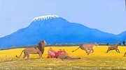 Hilton Mwakima Art - Guarding prey by Hilton Mwakima