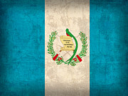 Guatemala Flag Vintage Distressed Finish Print by Design Turnpike