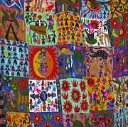 Quilts Photos - Guatemala Folk Art Quilt by Kurt Van Wagner