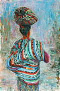 Central America Paintings - Guatemala Impression I by Xueling Zou