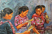 Mayan Painting Framed Prints - Guatemala Impression III Framed Print by Xueling Zou