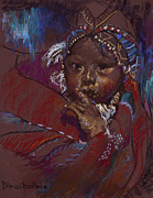 South Pastels Prints - Guatemalan Child Print by Ellen Dreibelbis
