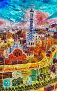 Glass Paintings - Guell Park by Mo T