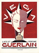1940Õs Prints - Guerlain 1940s Uk Guerlain   Vega Art Print by The Advertising Archives