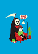 Cute Cartoon Digital Art Framed Prints - Guess Who Framed Print by Budi Satria Kwan