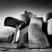 Architect Framed Prints - Guggenheim Bilbao Framed Print by Nina Papiorek