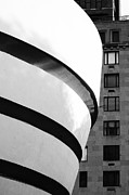 Guggenheim Photos - Guggenheim Museum in B and W by Anahi DeCanio