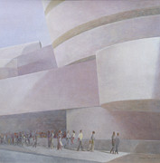 Signed Painting Prints - Guggenheim Museum New York 2004 Print by Lincoln Seligman