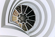 Guggenheim Framed Prints - Guggenheim Spider Web Framed Print by David Bearden