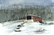 Covered Bridge Paintings - Guide Me by Nancy Patterson