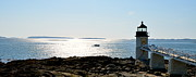 New England Lighthouse Prints - Guiding Light Print by Corinne Rhode