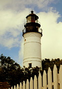 American Lighthouses Prints - Guiding Light of Key West Print by Karen Wiles