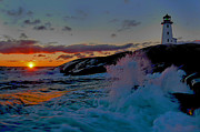 Lighthouse Digital Art Originals - Guiding Lights by Byron Fli Walker