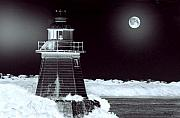 Moon Light Prints - Guiding Lights Print by Holly Kempe