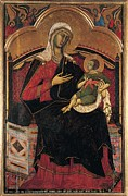 Christ Child Posters - Guido Da Siena, Madonna And Child Poster by Everett