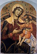 Jesus Christ Icon Prints - Guido Da Siena, Madonna Of Saint Print by Everett
