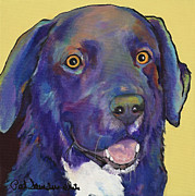 Pat Saunders-white Dog Paintings - Guido by Pat Saunders-White