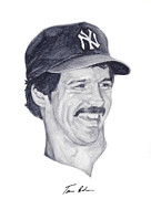 New York Yankees Paintings - Guidry by Tamir Barkan