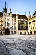 England Town Framed Prints - Guildhall building and Art Gallery Framed Print by Elena Elisseeva