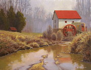 Guilford Mill En Plein Air Print by Jeremy Sams
