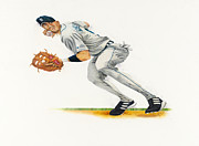 Detroit Tigers Drawings - Guillen by Ken Hank