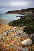 Dull Framed Prints - Guincho Cliffs Framed Print by Carlos Caetano