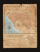 Guinee Map Print by Dave Kobrenski
